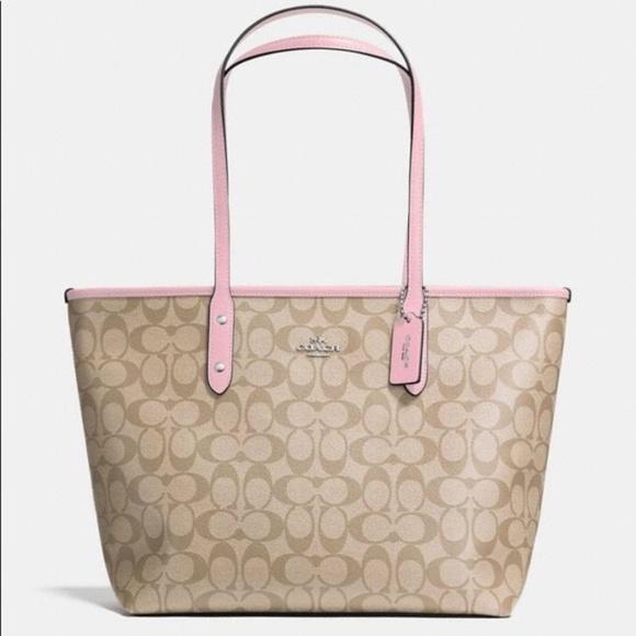Coach Handbags - XSOLD City Zip Tote Signature Light Pink Carnation